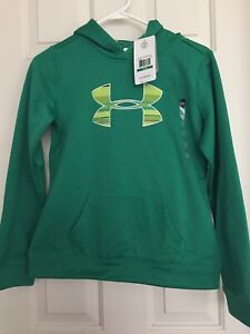 NEW*UNDER ARMOUR HOODIE ** GIRLS YOUTH LARGE Cold Gear Green $22.98