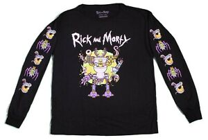 New Adult Swim Rick and Morty Long Sleeve Vintage Retro Cartoon T Shirt 90s Tee $16.49