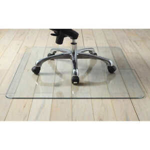 Chair Mat Lorell Simple Durable Scratch Resistant Clear Tempered Glass 36quot; x 46quot; $64.80