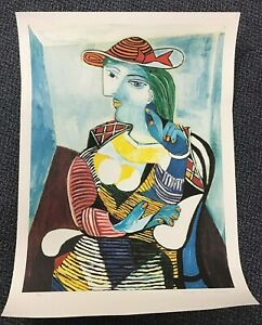 "Large Picasso Estate Signed Limited Edition Lithograph ""Marie Therese Water"" $995.00"