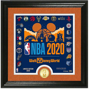 Disney #x27;#x27;Make History#x27;#x27; Framed Lithograph with NBA Coin LE 2020 In Hand $160.00