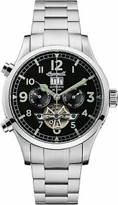 Ingersoll Men#x27;s I02103 Armstrong 46mm Black Dial Stainless Steel Watch $104.99