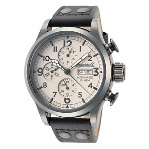 Ingersoll Men#x27;s I02202 Armstrong 46mm Beige Dial Leather Watch $94.99