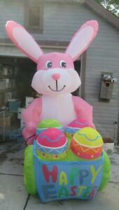 Easter Inflatable 12 foot Happy Easter Bunny NICE $146.38