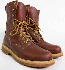 Carolina Boots Brown Leather Men#x27;s Size 10 Made in USA Logger