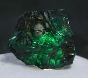 Natural Certified Uncut 60 to 65 Ct Emerald Green Dyed Rough Loose Gemstone $11.51