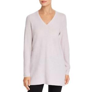 Eileen Fisher Womens Extra Fine Wool V Neck Shirt Sweater Top BHFO 5568 $32.39