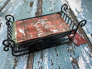 Sleigh Guest Towel Holder With Napkins $19.99