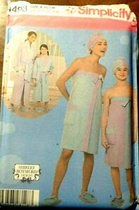 SIMPLICITY MOTHER amp; DAUGHTER SPA ACCESSORIES UNCUT PATTERN 4493