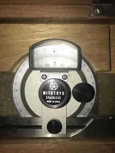 MITUTOYO UNIVERSAL BEVEL PROTRACTOR 187 904 HIGH PRECISION ANGLE GAGE $99.00