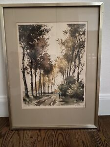 Aquatint Etching by G. Hibbeling $125.00