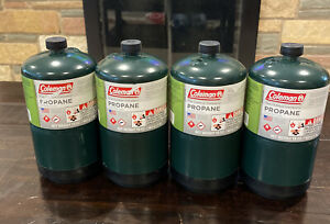Coleman 1lb Camping Propane Cylinder 4 Pack New Made In USA