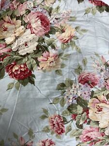 RALPH LAUREN Stone Harbor Floral King Deep Fitted Sheet Gorgeous Roses 17quot; $95.00