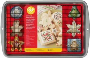 Cookie Baking Gift Set 12 Pc Pan Cooling Grid Cutters $28.99
