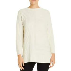 Eileen Fisher Womens Extra Fine Merino Wool Crewneck Tunic Sweater Top BHFO 8660 $38.99