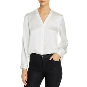 Eileen Fisher Womens Silk Button front v neck Button Down Top Shirt BHFO 8843 $42.99