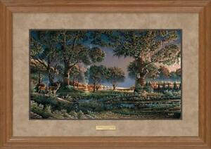 Camping on Sunset Point Framed Elite Print by Terry Redlin