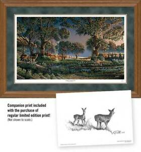 Camping on Sunset Point Framed Limited Edition Print by Terry Redlin