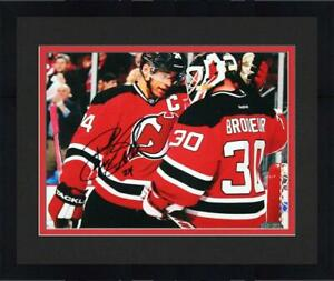 Framed Bryce Salvador Signed New Jersey Devils 8x10 Photo with Martin Brodeur $70.98