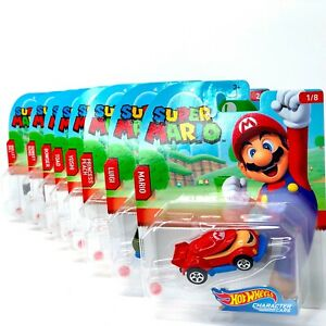 Super Mario Hot Wheels Character Cars Complete Set 2020 Edition $11.98