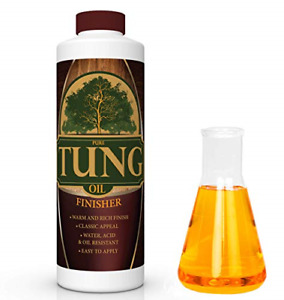 100% Pure Tung Oil Finish Wood Stain amp; Natural Sealer for All Types of Wood 32 $25.86