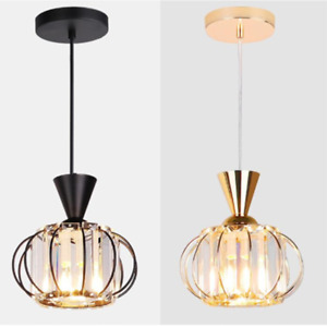 Modern Crystal Pendant Lamp Pumpkin shape Ceiling Lamp Crystal Chandelier $29.99