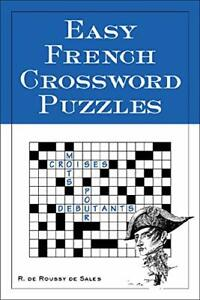 Easy French Crossword Puzzles Language French English and French Editio... $5.32