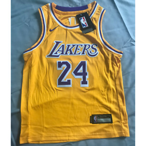 Los Angeles Lakers #24 Kobe Bryant Youth Kids Gold Basketball Sewing Jersey $39.99