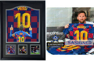 Barcelona Lionel Messi signed shirt jersey SASIGNED ICONS $1500.00