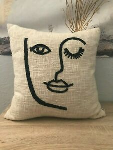 Urban Outfitters Line Art Wink Throw Pillow 18quot;x18quot; $7.00