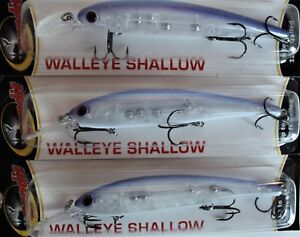 Bandit Walleye Shallow Diver lures Lot of 3 5 8 oz. Walleye Bass Pike lure