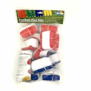 WYZworks Flag Football Flag Set 12 belts 3 Flags Per Belt 2 Colors R amp; B