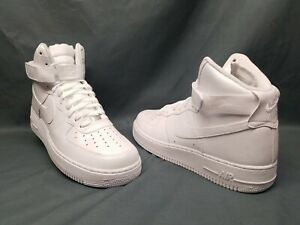 Nike Mens Air Force 1 07 High Sneakers White White Size 11 DISPLAY MODEL $69.95