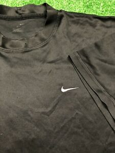 Nike Dry Fit Shirt Black Big Check Swoosh $25.00