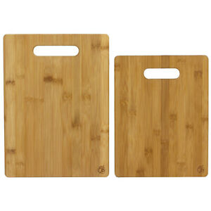 2 Piece Bamboo Serving and Cutting Board Set $14.99