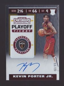 Kevin Porter Jr. Rookie Autograph 99 2019 20 Panini Contenders Playoff RC Auto $100.00