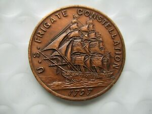 Medal Made From The Metal Of The Ship Frigate Constellation Coin U.S. Navy $15.00