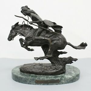 Frederic Remington The Cheyenne Bronze sculpture with Marble Base 7 5 8quot; H $99.99