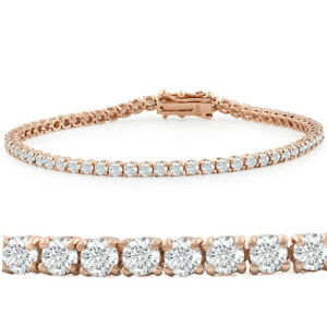 5ct Diamond Tennis Bracelet 14K Rose Gold 7quot;
