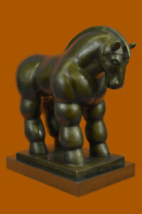 Vintage Bronze sculpture American Art Horse Chubby Signed Botero LARGE Fine Deal $599.00