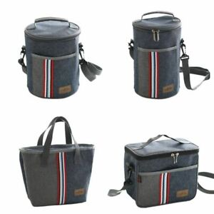 Thermal Lunch Bag Insulated Cooler Storage Women Kids Food Bento Bag