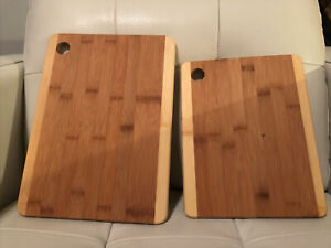 Bamboo Cutting Board Set Of 2 $19.99
