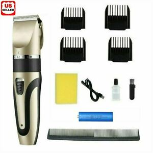 Professional Hair Clippers Trimmer Mens Barber Hair Cutting kit Machine Cordless $12.98