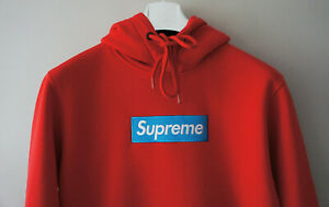BNWT Supreme Grip Italfigo Authentic Supreme Blue Box Logo Red Hoodie F W2020 $79.90