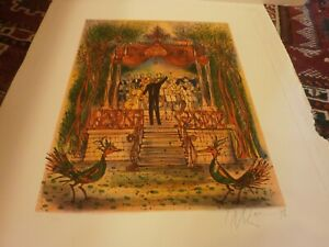 CARZOU NANE CARZOU LA VILLE A L#x27;ENVERS 3 PENCIL SIGNED LITHOGRAPHS MINT $300.00