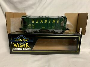 ✅WEAVER 3 RAIL READING PS 2 COVERED HOPPER CAR W LIONEL TYPE COUPLERS O SCALE