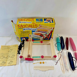 Vintage McCall#x27;s Delux Weaving Loom with Extra Shuttles 1992 Playtime No. 9825