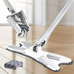 Flat Floor Mop with 3Pcs Microfiber Mop Cloth Replace Hand Free Wash $90.09