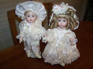 OOAK 11quot; Boy amp; Girl Doll Jan Doehring New Orleans Artist Antique Reproductions $275.00
