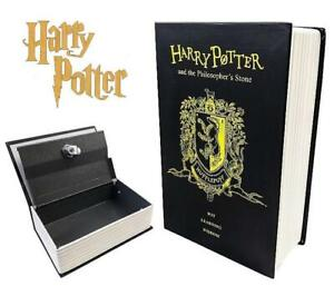 Harry Potter Hollow Book Safe Hufflepuff Homesafe Hidden Security Key Lock 9 AU $29.99